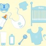 les accessoires d'un bébé